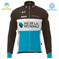 2020 Team AG2R Kids Thermal Long Sleeve Cycling Jersey