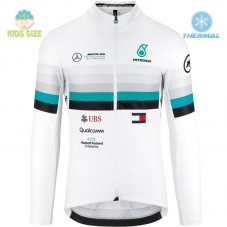 2020 Assos FF1 RS Benz White Kids Thermal Long Sleeve Cycling Jersey