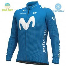 2020 MOVISTAR Team Kids Thermal Long Sleeve Cycling Jersey