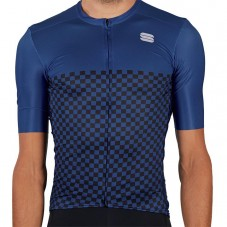 2021 Sportful Checkmate Blue Cycling Jersey