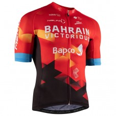2021 Bahrain Victorious Red Cycling Jersey