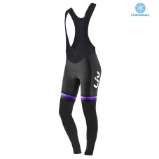 2017 Liv Race Day Women's Black-Purple Thermal Cycling Bib Pants