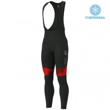 2019 ALE Pulse Black-Red Thermal Cycling Bib Pants