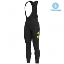 2019 ALE Slide Black-Yellow Thermal Cycling Bib Pants