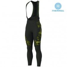 2019 ALE Camouflage Black-Yellow Thermal Cycling Bib Pants
