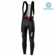 2019 SKY Team Black-Blue Thermal Cycling Bib Pants