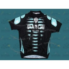 Bianchi Black/Green Cycling Jersey