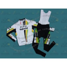 HTC Columbia 2011 Cycling Long Sleeve Jersey And Bib Pants Set