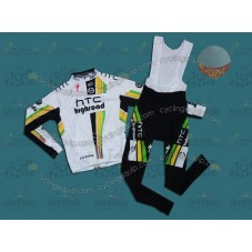 HTC Columbia 2011 Thermal Cycling Long Sleeve Jersey And Bib Pants Set