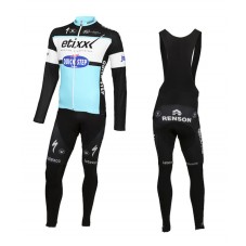 2015 Etixx-Quick Step Cycling Long Sleeve Jersey And Bib Pants Set