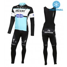 2015 Etixx-Quick Step Thermal Long Cycling Long Sleeve Jersey And Bib Pants Set
