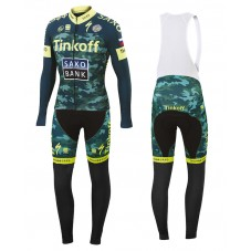 2015 Tinkoff Saxo Bank Camouflage Cycling Long Sleeve Jersey And Bib Pants Set