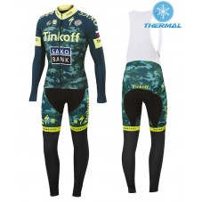 2015 Tinkoff Saxo Bank Camouflage Thermal Long Cycling Long Sleeve Jersey And Bib Pants Set
