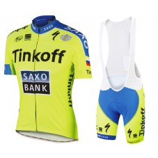 2015 Tinkoff Saxo Bank Cycling Jersey And Bib Shorts Set