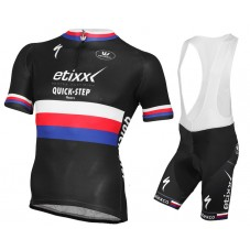 2015 Etixx Quick-Step Czech Champion Cycling Jersey And Bib Shorts Set