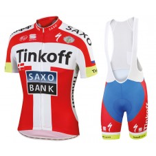 2015 Tinkoff-Saxo Bank Danish Champion Cycling Jersey And Bib Shorts Set