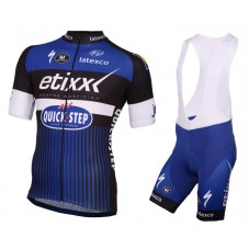 2016 Etixx-Quick Step Blue Cycling Jersey And Bib Shorts Set
