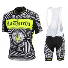 2016 Tinkoff Training Black Cycling Jersey And Bib Shorts Set
