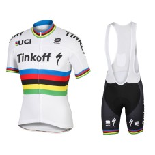 2016 Tinkoff Race Team World Champion Cycling Jersey And Bib Shorts Set