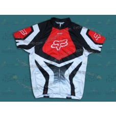 2014 Fox Team White And Red   Cycling Jersey
