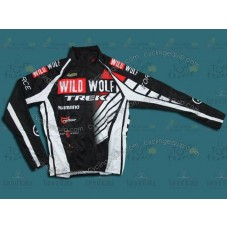 2012 Trek Wild Wolf Black And White Thermal Cycling Long Sleeve Jersey