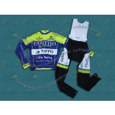 2014 Vini Fantini NIPPO  Cycling Long Sleeve Jersey And Bib Pants Set