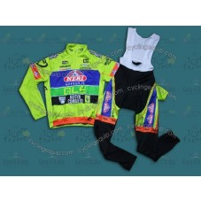 2014 Neri Sottoli- Yellow Fluo  Thermal Long Cycling Long Sleeve Jersey And Bib Pants Set