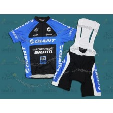 Giant 2011 Black/Blue Cycling Jersey And Bib Shorts Set