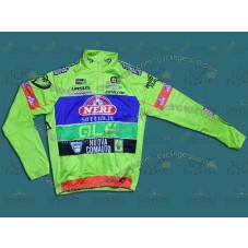 2014 Neri Sottoli- Yellow Fluo  Thermal Cycling Long Sleeve Jersey