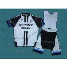 2014 Team Giant Shimano White  Cycling Jersey And Bib Shorts Set