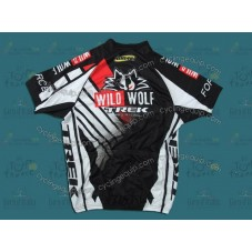 2012 Trek Wild Wolf Black And White  Cycling Jersey