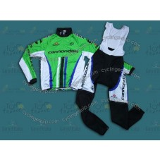 2014 Cannondale Factory Team  Thermal Long Cycling Long Sleeve Jersey And Bib Pants Set