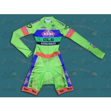 2014 Neri Sottoli- Yellow Fluo Long Sleeve Cycling Skinsuit Time Trail Skin Suits
