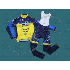 2013 Saxo Bank Tinkoff Thermal Long Cycling Long Sleeve Jersey And Bib Pants Set