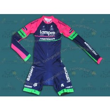 2014 Lampre Long Sleeve Cycling Skinsuit Time Trail Skin Suits